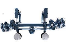 BPW self-steering axles with disc and drum brake. For axle loads from 9,000 kg to 10,000/12,000 kg.
