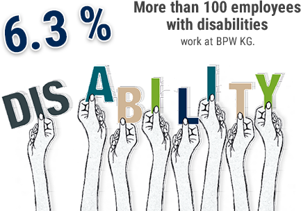 More than 100 employees with disabilities work at BPW KG